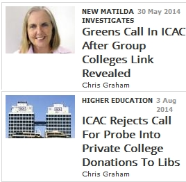 ICAC rejects call for probe into private college (Group Colleges Australia – GCA – Alan Manly)