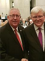 Kevin Rudd (Former Prime Minister of Australia) & Gerard Newcombe