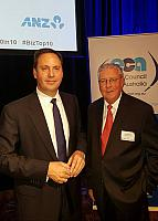 Minister for Trade and Investment Steven Ciobo MP and Gerard Newcombe Group Colleges Australia's Marketing Director