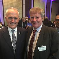 Alan Manly with Australian Prime Minster Malcolm Turnbull