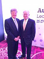 Alan Manly, MD GCA with Andrew Robb, Minister for Trade