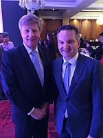 Alan Manly, MD GCA with Chris Bowen, Shadow Treasurer.