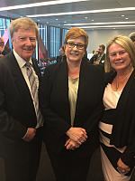 Alan Manly, Senator Marise Payne Minister for Defence & Jenny McCarthy