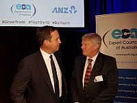 Minister for Trade and Investment Steven Ciobo MP and Alan Manly Group Colleges Australia's Managing Director