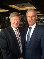 Alan Manly with Senator the Hon Richard Colbeck
