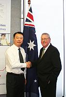 Gerard Newcombe (Group Colleges Australia) & GU Songtang (Zibo)