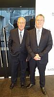 GCA Marketing Director Sir Gerard Newcombe with Austrade CEO Bruce Gosper