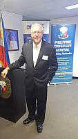 Sir Gerard Newcombe - Philippine Consul General at the Australia-Philippines Business Council function.